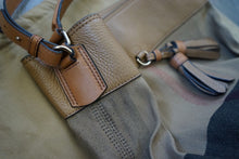 Load image into Gallery viewer, Authentic Burberry Medium Ashby in Canvas Check and Leather Hobo Saddle Brown 3982937
