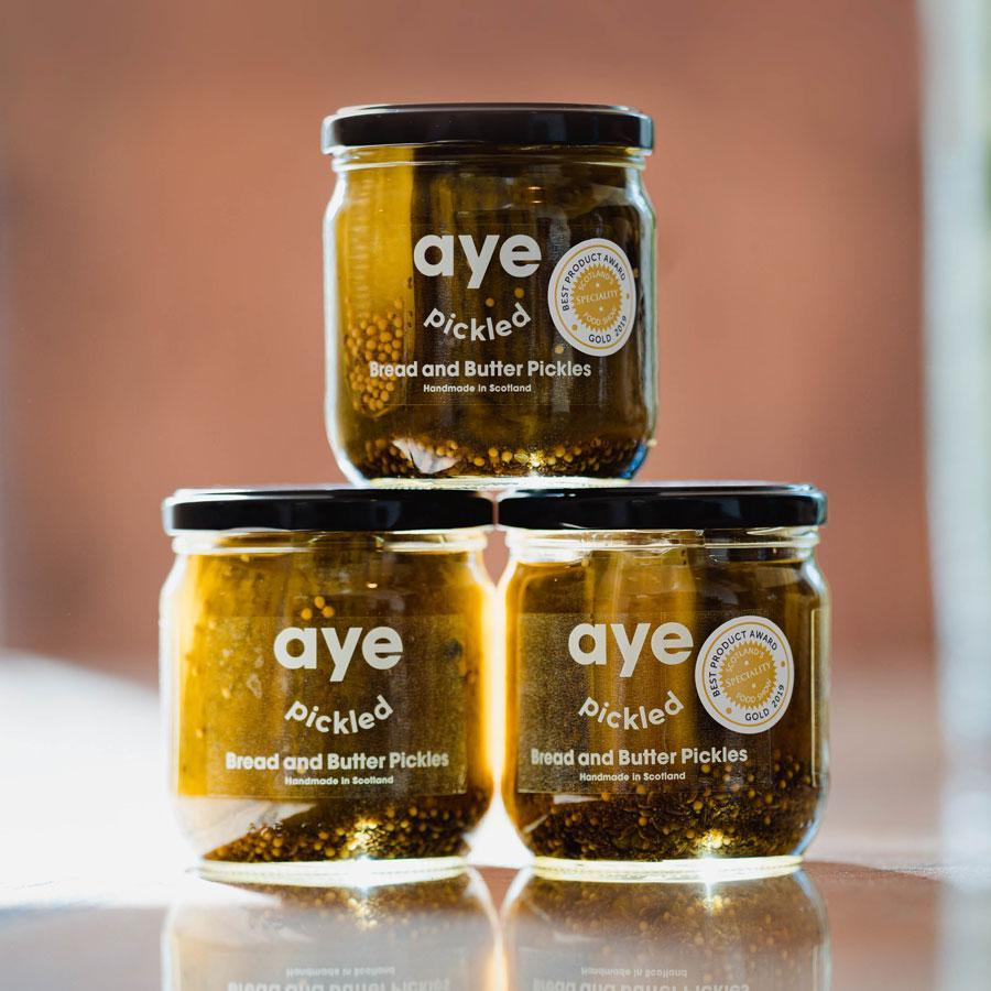 Aye Pickled - Bread and Butter Pickles (425g) - Romaine Calm Scotland