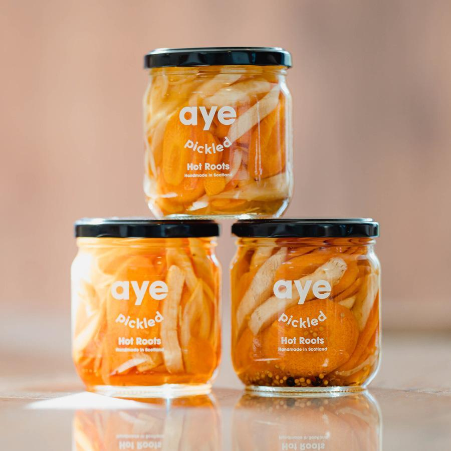 Aye Pickled - Hot Roots (425g) - Romaine Calm Scotland