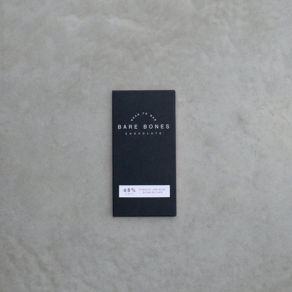 Barebones 68% Dominican Salted Chocolate - 70g - Romaine Calm Scotland