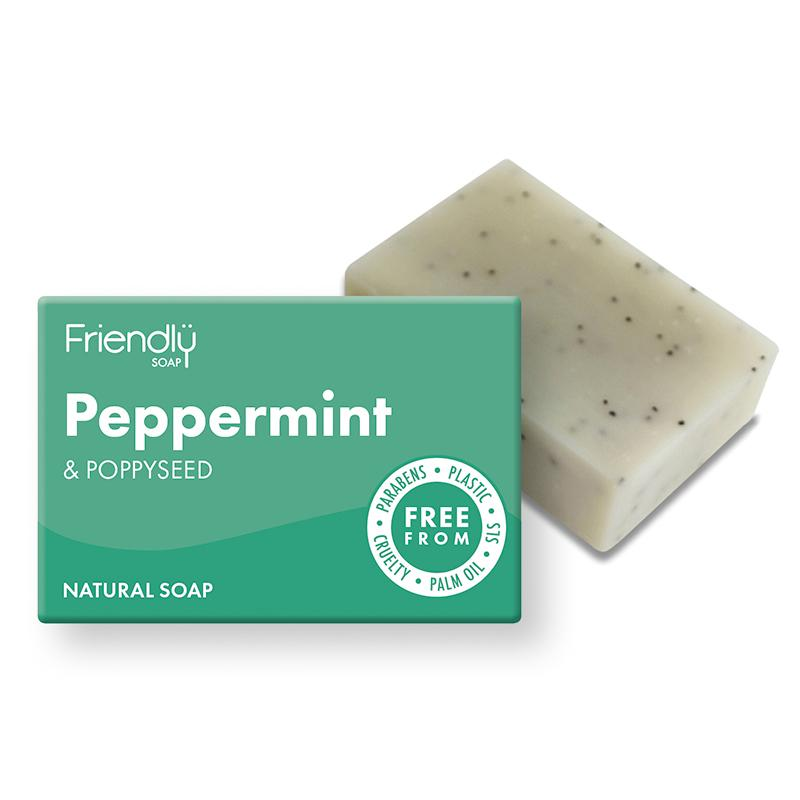 Bath Soap Peppermint + Poppy (95g) - Romaine Calm Scotland