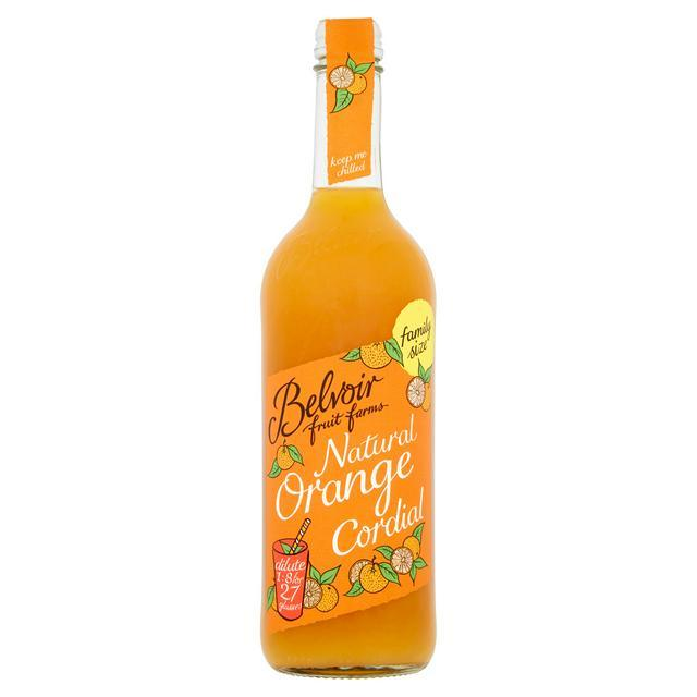 Belvoir Orange Natural Cordial (750ml) - Romaine Calm Scotland