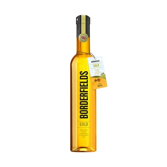 Borderfields - Gold British Cold Pressed Rapeseed Oil (500ml) - Romaine Calm Scotland