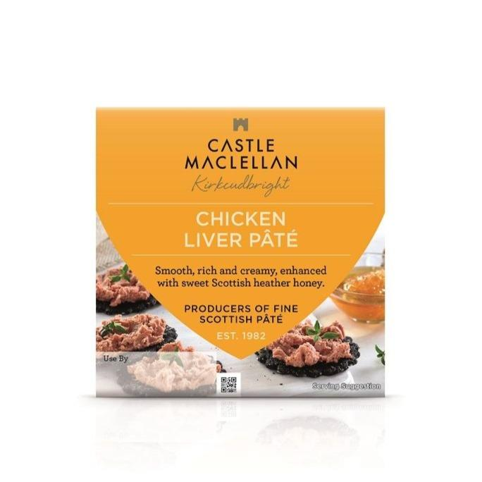 Castle Maclellan Chicken Liver Pate + Honey (100g) - Romaine Calm Scotland