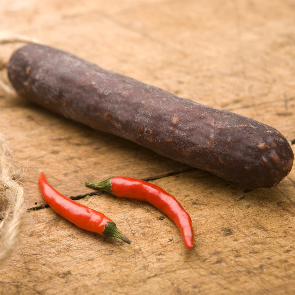 Chilli Venison Chorizo - Great Glen Charcuterie - Romaine Calm Scotland