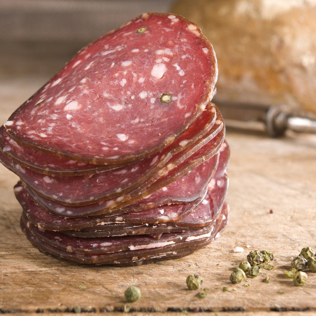 Green Pepper Venison Salami - Romaine Calm Scotland