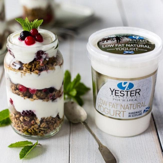 Low Fat Natural Yoghurt - Yester Dairy (500g) - Romaine Calm Scotland