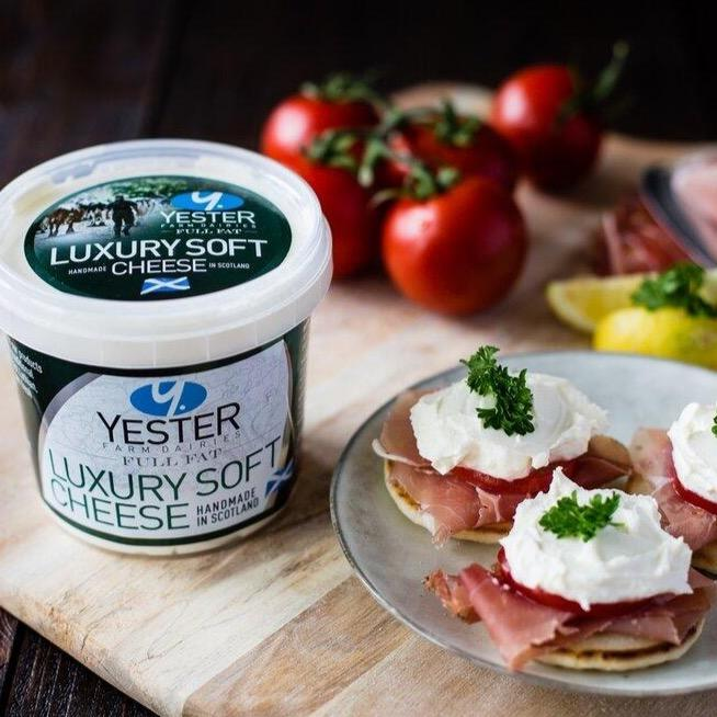 Luxury Soft Cheese - Yester Dairy (320g) - Romaine Calm Scotland