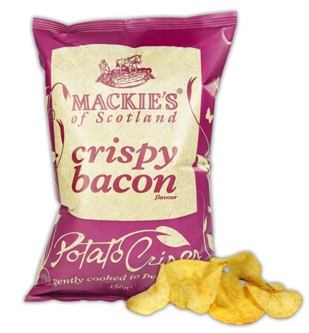 Mackies Crispy Bacon Crisps (40g) - Romaine Calm Scotland