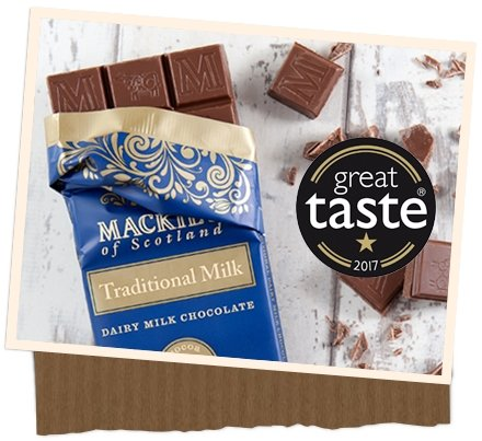 Mackies Milk Chocolate Bar (120g) - Romaine Calm Scotland