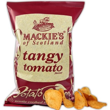 Mackies Tangy Tomato Crisps (40g) - Romaine Calm Scotland