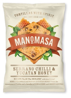 Manomasa Tortilla Chips Chilli + Yucatan Honey (160g) - Romaine Calm Scotland