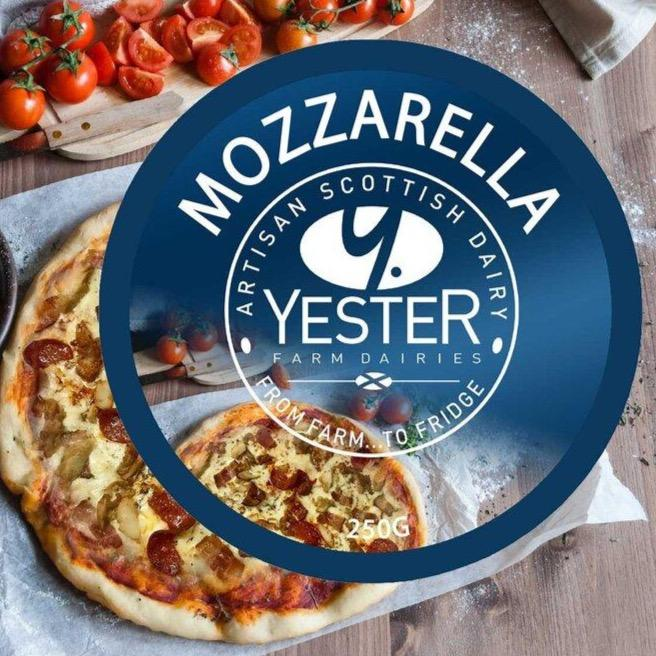 Mozzarella Block - Yester Dairy (250g) - Romaine Calm Scotland