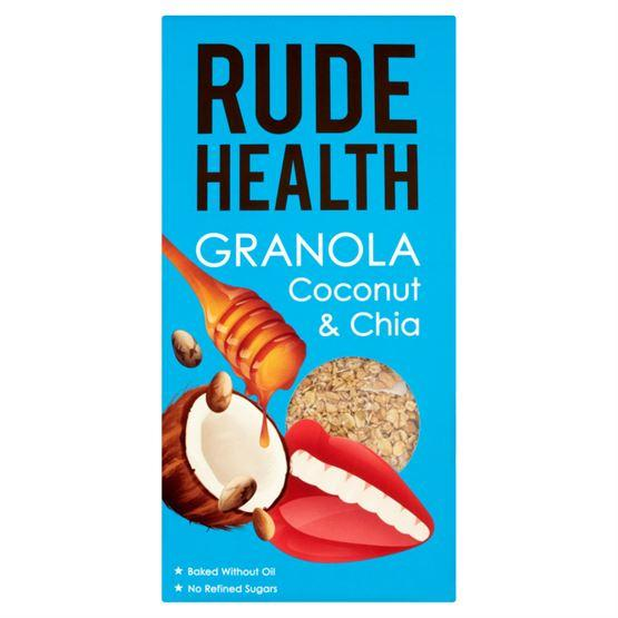 Rude Health Coconut & Chia Granola (450g) - Romaine Calm Scotland
