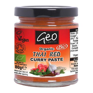 Thai Red Curry Paste - Organic (180g) - Romaine Calm Scotland