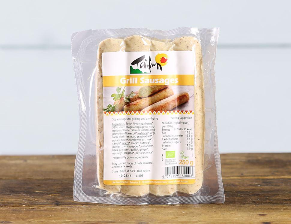 Tofu Grill Sausages, Taifun (250g 4 pack) - Romaine Calm Scotland