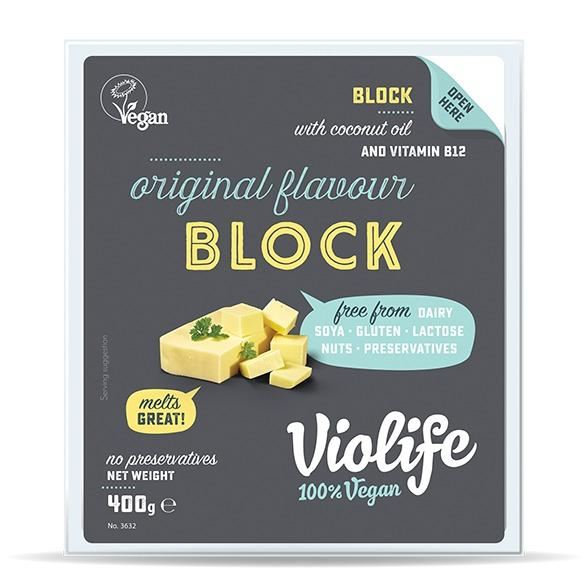 Violife Original Flavour Vegan Cheese Block (400g) - Romaine Calm Scotland
