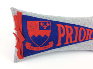Saint Louis Priory School Pennant Pillow