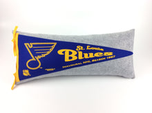 Load image into Gallery viewer, St. Louis Blues Pennant Pillow - large