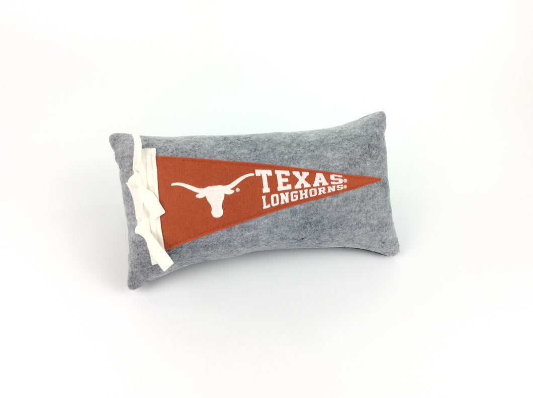 Texas Longhorns Pennant Pillow - Small 11 inches