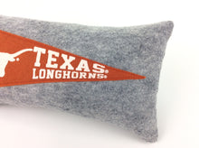 Load image into Gallery viewer, Texas Longhorns Pennant Pillow - Small 11 inches