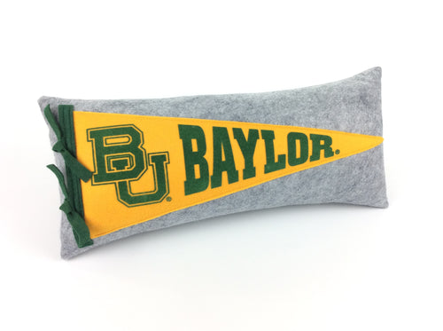 Baylor University Pennant Pillow