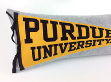 Load image into Gallery viewer, Purdue University Pennant Pillow - large