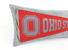 Load image into Gallery viewer, Ohio State University Buckeyes Pennant Pillow OSU