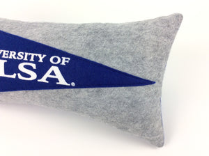 University of Tulsa Pennant Pillow