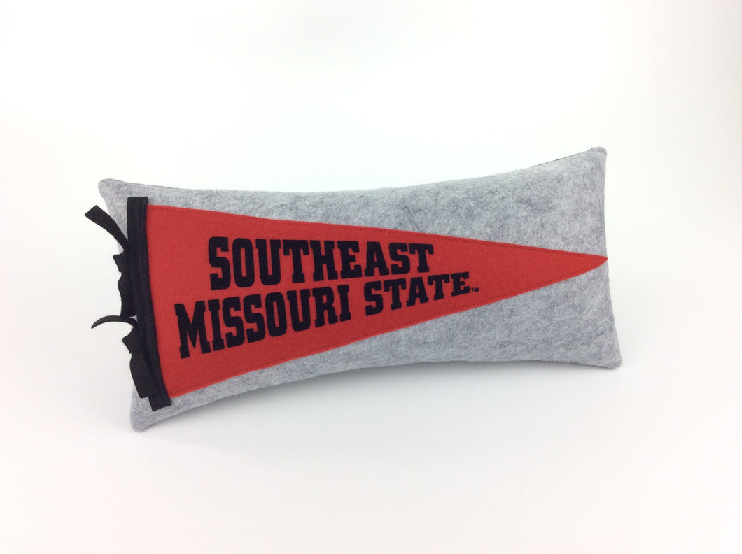 Southeast Missouri State University Pennant Pillow