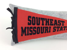 Load image into Gallery viewer, Southeast Missouri State University Pennant Pillow