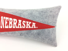 Load image into Gallery viewer, Nebraska Cornhuskers Pennant Pillow
