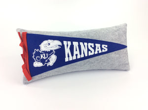 Kansas Jayhawks Pennant Pillow