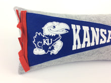 Load image into Gallery viewer, Kansas Jayhawks Pennant Pillow