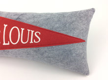 Load image into Gallery viewer, St. Louis Baseball Pennant Pillow