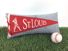 Load image into Gallery viewer, St. Louis Baseball and Hockey Pennant Pillows