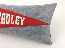 Load image into Gallery viewer, Bradley University Braves Pennant Pillow