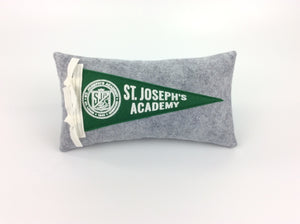 St. Joseph's Academy mini pennant pillow