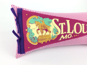 St. Louis Missouri Vintage Inspired Pennant Pillow STL