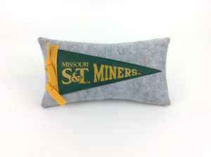 Missouri S&T Pennant Pillow - Small 11 inches