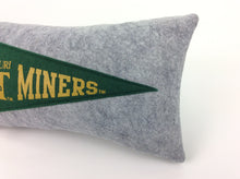 Load image into Gallery viewer, Missouri S&T Pennant Pillow - Small 11 inches