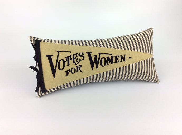 Votes for Women Vintage Inspired Pennant Pillow