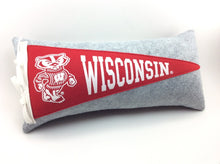 Load image into Gallery viewer, University of Wisconsin Badgers Pennant Pillow