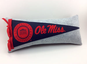 University of Mississippi Ole Miss Pennant Pillow