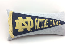 Load image into Gallery viewer, Notre Dame Fighting Irish ND Pennant Pillow
