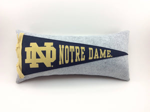 Notre Dame Fighting Irish ND Pennant Pillow