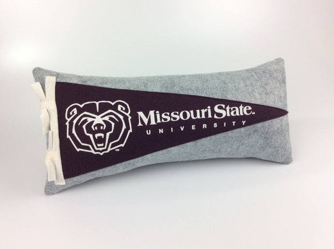 Missouri State University Bears Pennant Pillow
