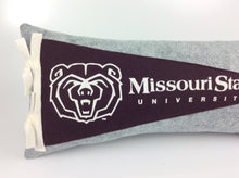 Load image into Gallery viewer, Missouri State University Bears Pennant Pillow