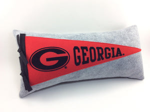 Georgia Bulldogs Pennant Pillow