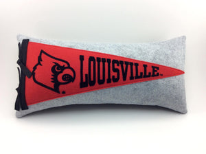 Louisville Cardinals Pennant Pillow